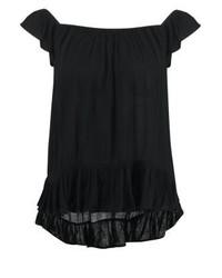 Top à épaules dénudées noir Ralph Lauren