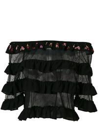 Top à épaules dénudées noir RED Valentino