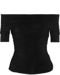 Top à épaules dénudées noir The Row