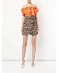 Top à épaules dénudées orange Bambah
