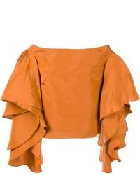 Top à épaules dénudées orange Rosie Assoulin