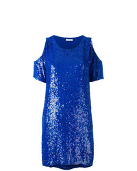 Top à épaules dénudées pailleté bleu P.A.R.O.S.H.
