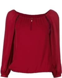 Top à épaules dénudées rouge Alice + Olivia