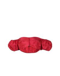 Top à épaules dénudées rouge Bevza