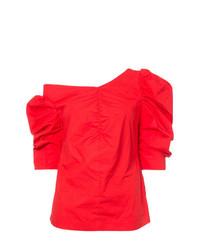 Top à épaules dénudées rouge Isa Arfen