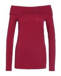 Top à épaules dénudées rouge Ralph Lauren