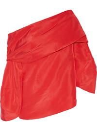 Top à épaules dénudées rouge Rosie Assoulin