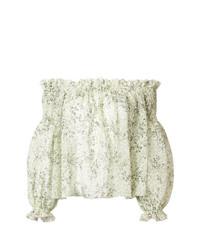 Top à épaules dénudées vert menthe Giambattista Valli