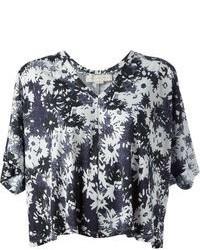 Top court à fleurs noir et blanc Stella McCartney