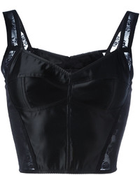 Top court en dentelle noir Dolce & Gabbana