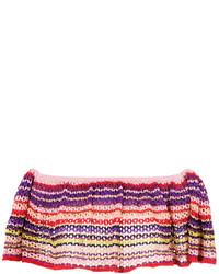 Top court en tricot multicolore
