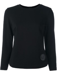 Top court en tricot noir Akris Punto