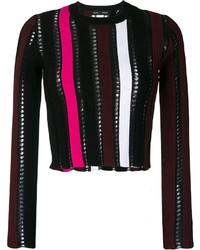 Top court en tricot noir Proenza Schouler