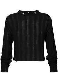 Top court en tricot noir The Elder Statesman