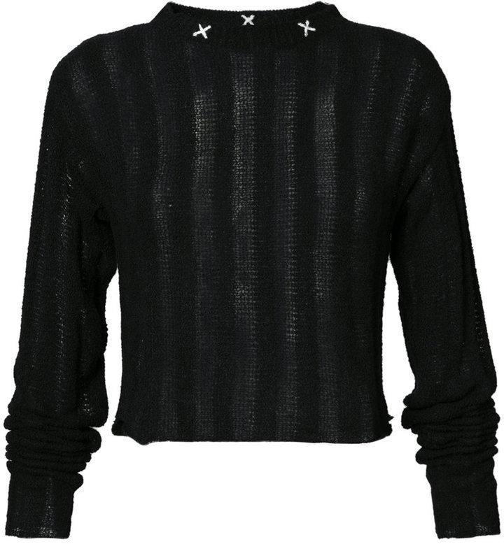Top court en tricot noir The Elder Statesman