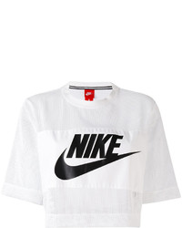 Top court en tulle blanc Nike
