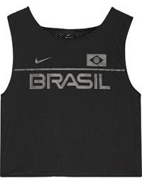 Top court en tulle imprimé noir Nike