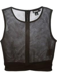 Top court en tulle noir DKNY