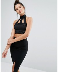 Top court en tulle noir Missguided