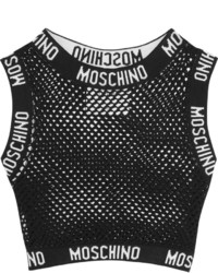 Top court en tulle noir Moschino