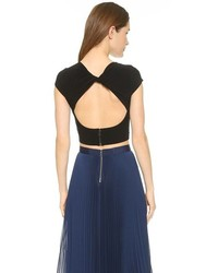 Top court noir Alice + Olivia