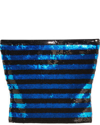 Top court pailleté bleu Saint Laurent