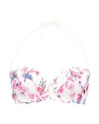 Top de bikini à fleurs rose mint&berry