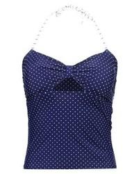 Top de bikini á pois bleu marine mint&berry