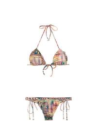 Top de bikini à volants marron clair Lygia & Nanny