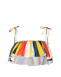 Top de bikini à volants multicolore Tory Burch