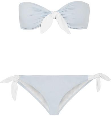 Top de bikini bleu clair Eberjey