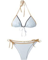 Top de bikini bleu clair Fendi