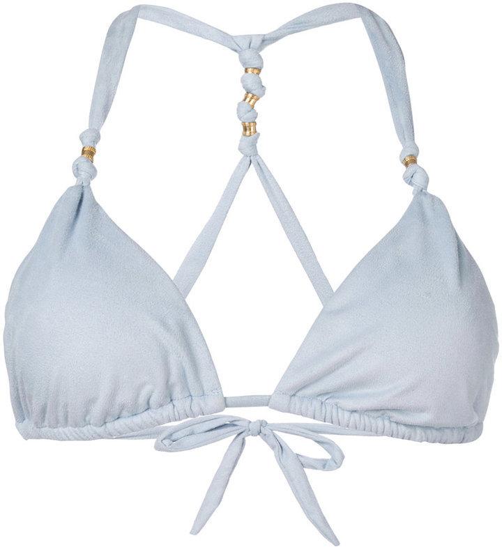 Top de bikini bleu clair Vix