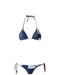 Top de bikini bleu marine Amir Slama