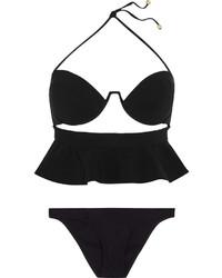 Top de bikini découpé noir Zimmermann