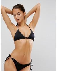 Top de bikini en broderie anglaise noir Asos