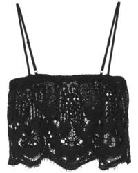 Top de bikini en crochet noir Miguelina