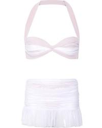 Top de bikini en tulle blanc Norma Kamali