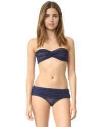 Top de bikini en tulle bleu Norma Kamali