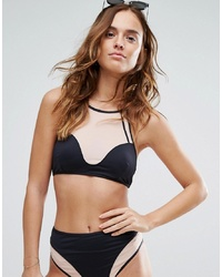 Top de bikini en tulle noir Evil Twin