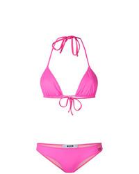 Top de bikini fuchsia MSGM