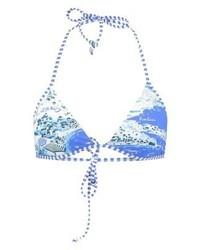 Top de bikini imprimé bleu clair Ralph Lauren