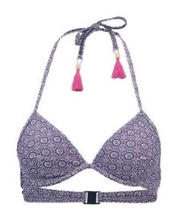 Top de bikini imprimé bleu Esprit