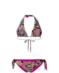 Top de bikini imprimé cachemire multicolore Etro