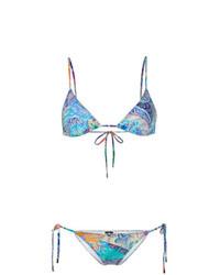 Top de bikini imprimé multicolore Etro