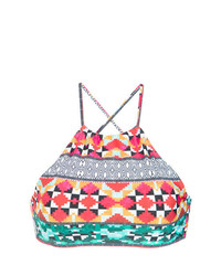 Top de bikini imprimé multicolore Lygia & Nanny