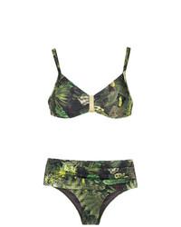 Top de bikini imprimé olive Lygia & Nanny