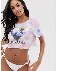Top de bikini imprimé rose ASOS DESIGN