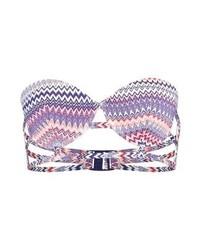 Top de bikini imprimé violet clair Even&Odd