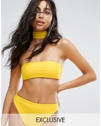 Top de bikini jaune Missguided